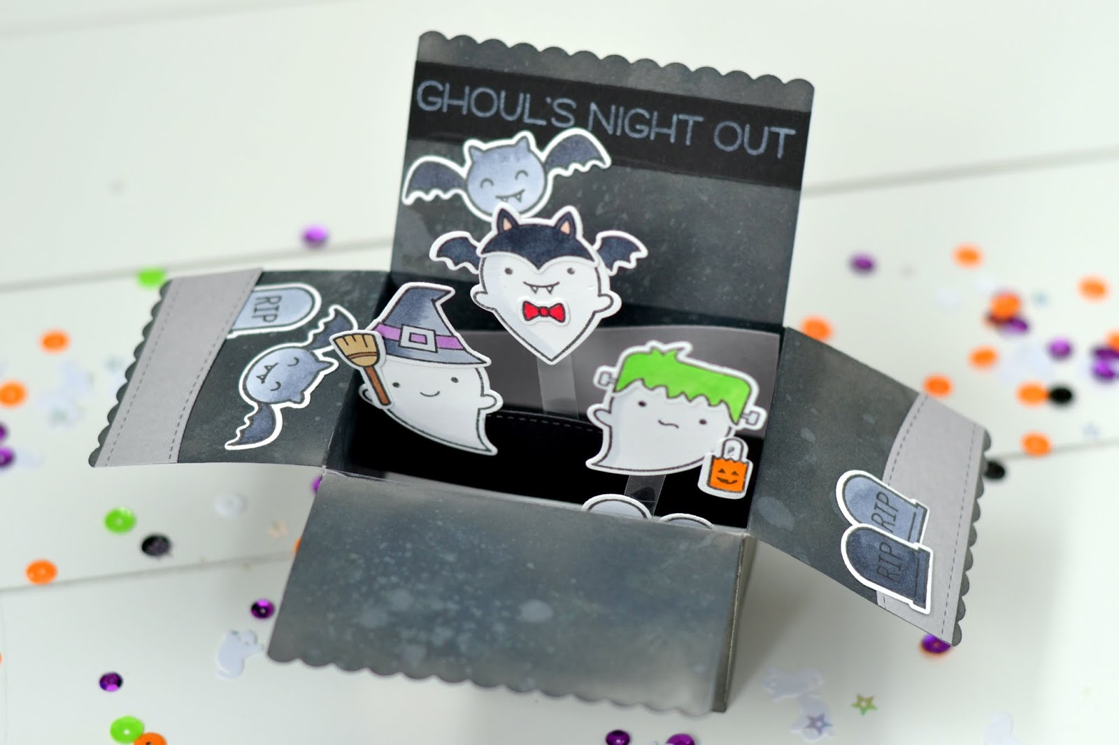 Halloween Inspiration #4 [scalloped box card pop-up] - the scrappy ...