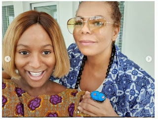 DJ Cuppy Shares New Glowing Photos With Her Mom Nana Otedola