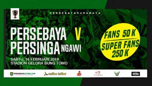 Tiket Online Persebaya vs Persinga Ngawi - Babak 32 Besar Piala Indonesia