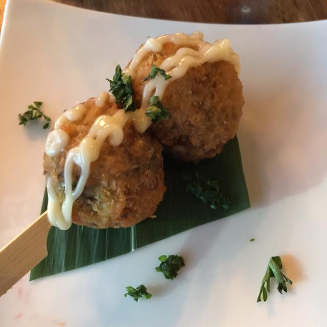V Series, Kew, mushroom risotto balls