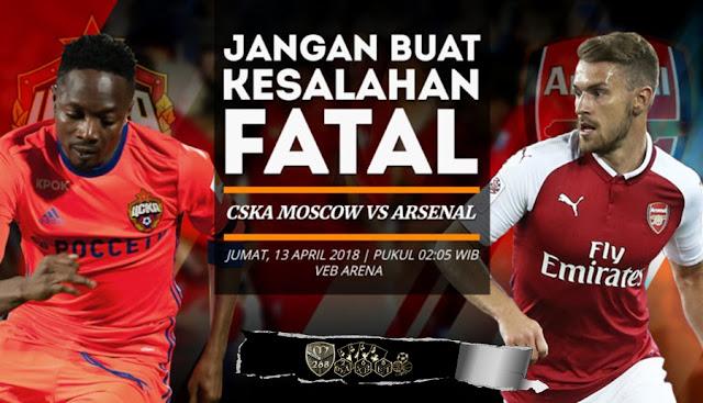 Prediksi CSKA Moscow Vs Arsenal, Jumat 13 April 2018 Pukul 02.05 WIB @ SCTV