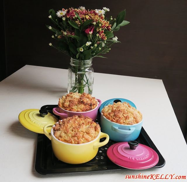 Dessert Recipe: Mango Passion Fruit with Oat and Almond Flakes Crumble