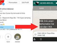 Tutorial membuat Link yang terkoneksi langsung ke Whatsapp