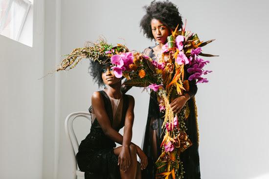 Safari Fusion blog   Flowers, feathers + food   Spectaular floral sculptures by Shane Sipolis of Edward & Tea