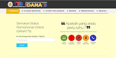 Semakan Bantuan iDANA Terengganu 2019 Online