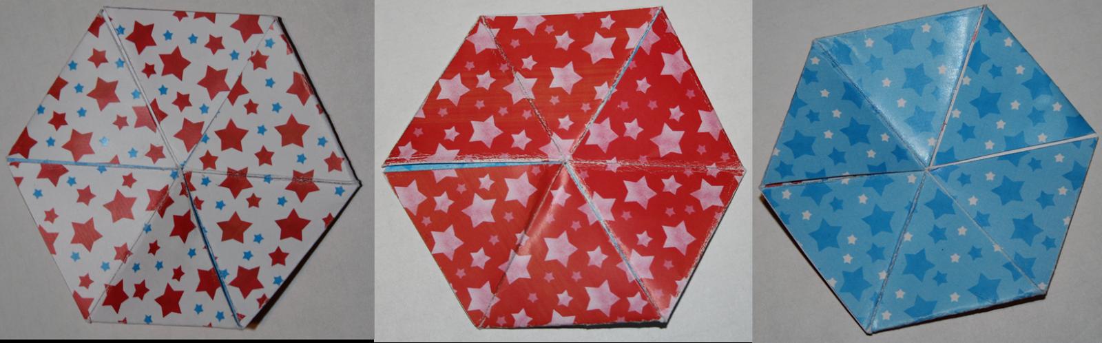 Carte magique hexaflexagone