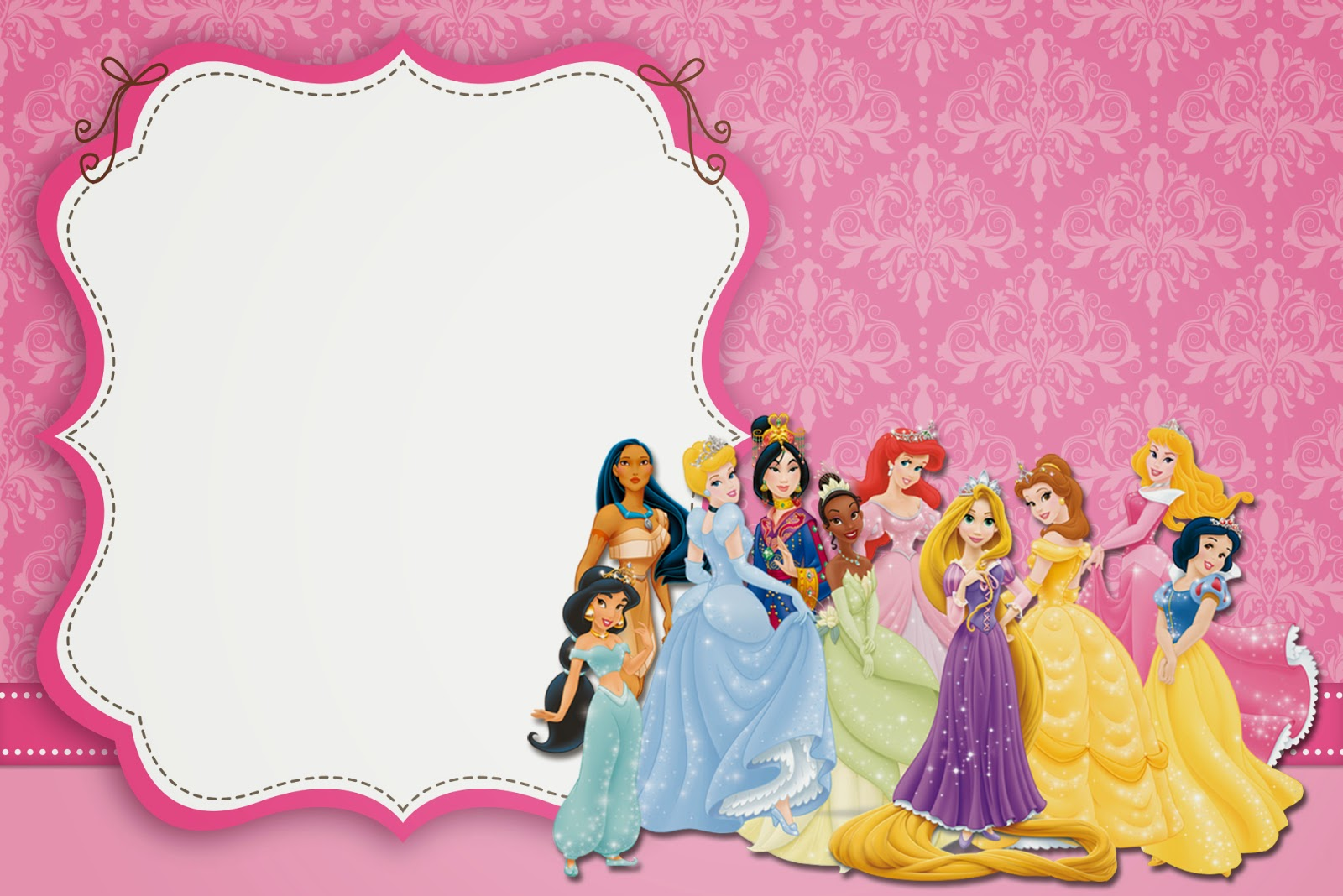 Disney Princess Party Free Printable Invitations