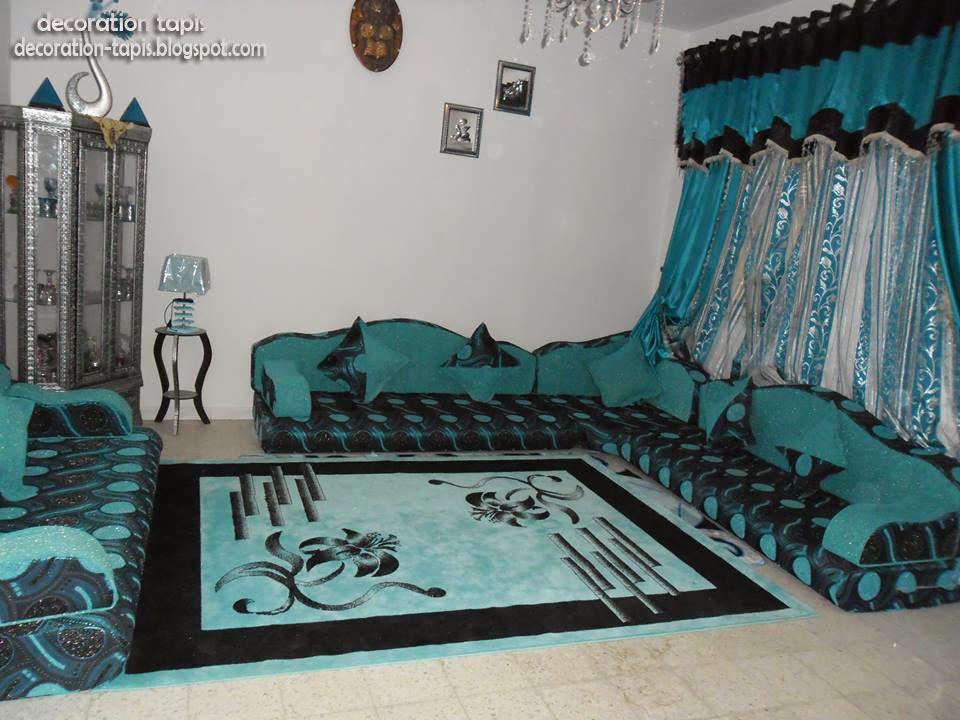 Tapis salon d coration tapis - Salon oriental au sol ...