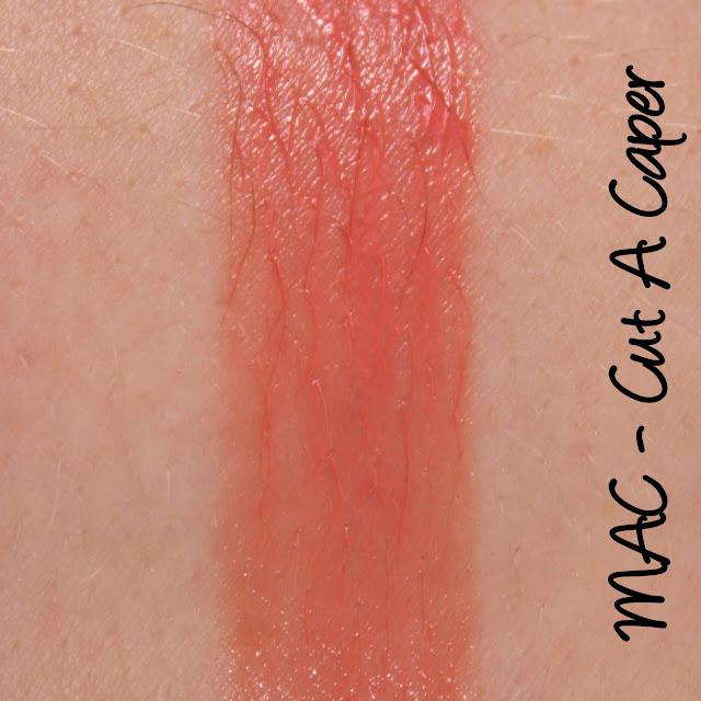 MAC MONDAY   A Tartan Tale - Cut A Caper Lipstick Swatches & Review