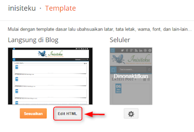 Cara menyembunyikan share button di homepage blog