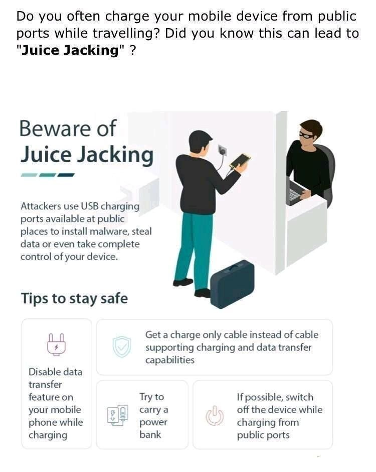 juice jacking || How to protect yourself