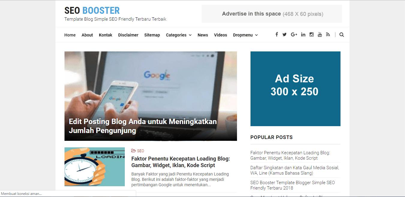 Template Blogger SEO Booster - #IRVANGEN