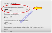 Disable and Enable Pop Up Help Tips in Windows 10