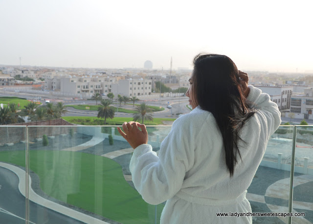 morning in Marriott Hotel Al Forsan