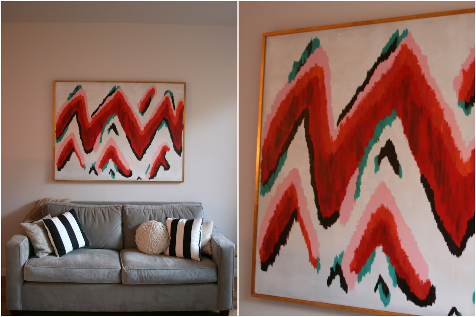 In Which I Pretend To Be A Painter Diy Zigzag Ikat Wall