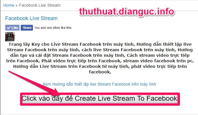 Hướng dẫn thiết lập live Stream Facebook trên máy tính