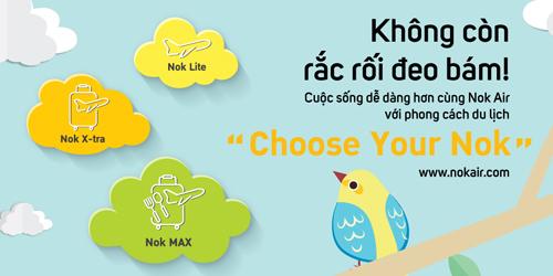 Nok Air vừa ra mắt nhiều hạng vé máy bay đa dạng phục vụ các nhu cầu khác nhau