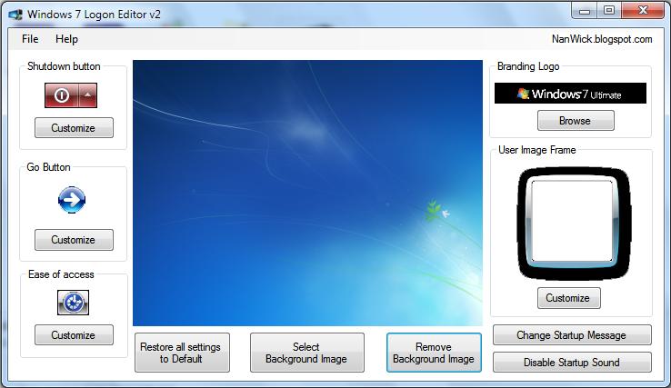 Windows 7 Logon Editor v2 - Community Apps - WinMatrix