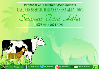 Selamat Iedul Adha 1437 H / 2016 M KM Blog