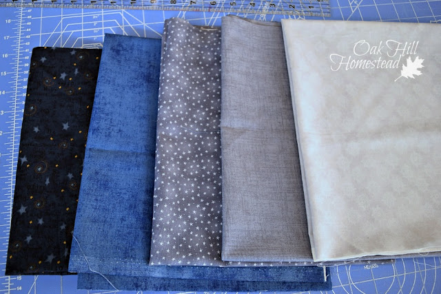 Fabrics for a modern-day quilt are usually purchased for that project.