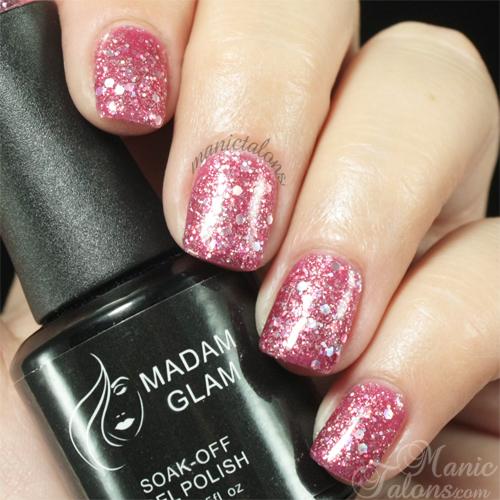 Madam Glam Gel Polish 325 Sparkling Hearts Swatch