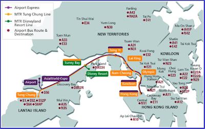 Transportes desde el Aeropuerto de Hong Kong