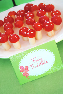Garden Fairy Party Menu