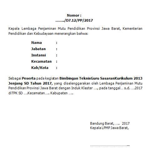 format kalimat untuk blangko sertifikat bimtek guru sasaran k13