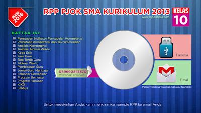 Jual RPP PJOK SMA Kelas 10 Kurikulum 2013 Revisi 2016
