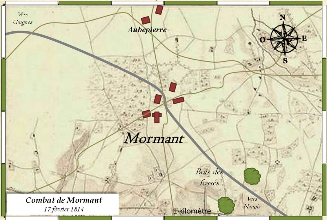 Mormant 1814: la carte du jeu (the game map)