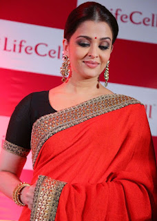 Aishwarya Rai Red Saree 2
