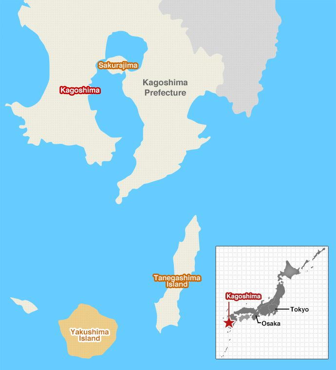 yakushima mapa