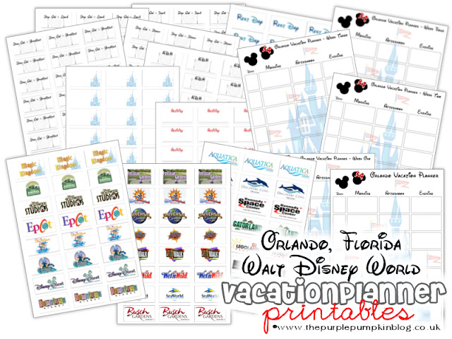 Orlando, Florida Walt Disney World Vacation Planner [Free Printable]