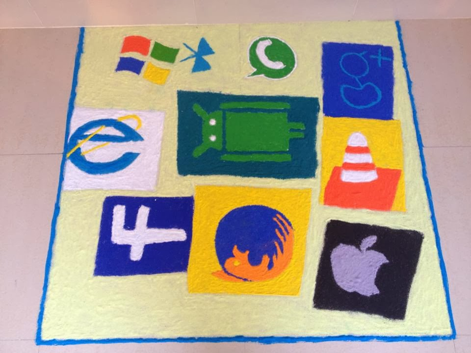 simbol sosial teknologi microsoft rangoli