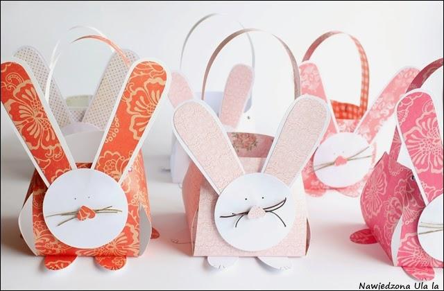 papierowe zające koszyki