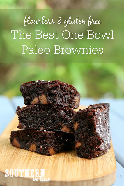 The Best One Bowl Paleo Brownies Recipe Nut Free - gluten free, grain free, flourless brownies, healthy, paleo, clean eating recipe, refined sugar free desserts