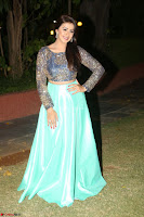 Nikki Galrani in Green Skirt  Top at Marakathamani music launch ~  Exclusive (122).JPG