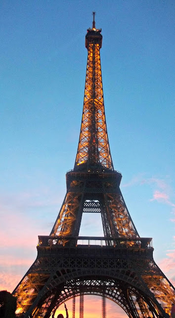 Seeing the Effiel Tower at Dusk, another must do when visiting Paris