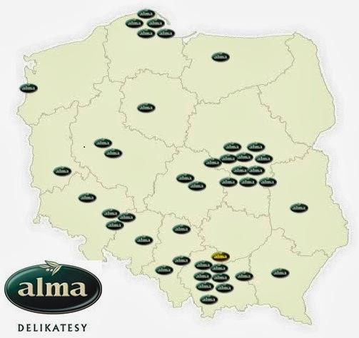 alma mapa sklepów