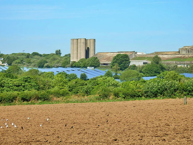 Solar energy by china clay works, Cornwall