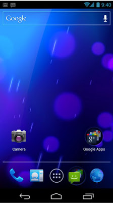 Screenshot of Android home screen