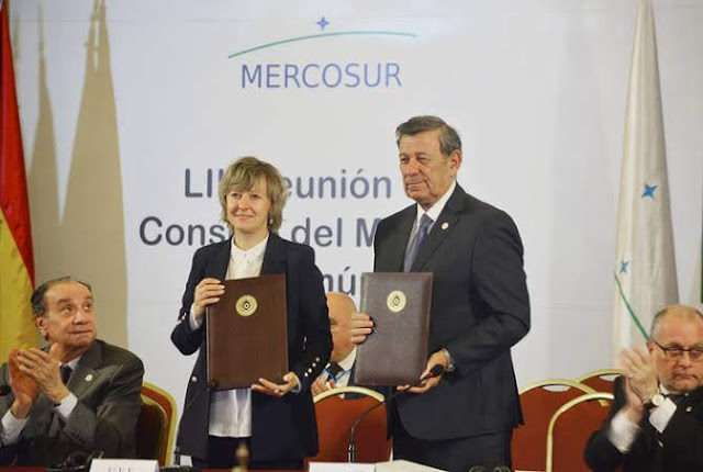 UEE y MERCOSUR firman cooperación económica