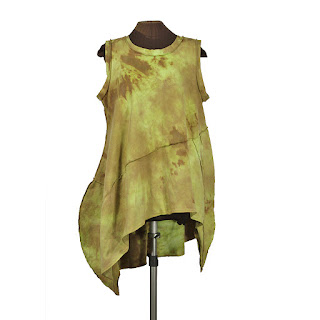 hand dyed cotton plus size lagenlook dress from secret lentil