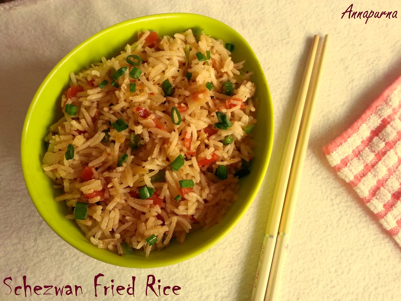 Annapurna schezwan fried rice indo chinese cuisine for Annapurna cuisine