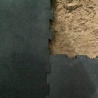 Greatmats interlocking stall mats over dirt base