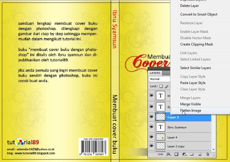 Cara membuat cover buku dengan photoshop + Video (cover
