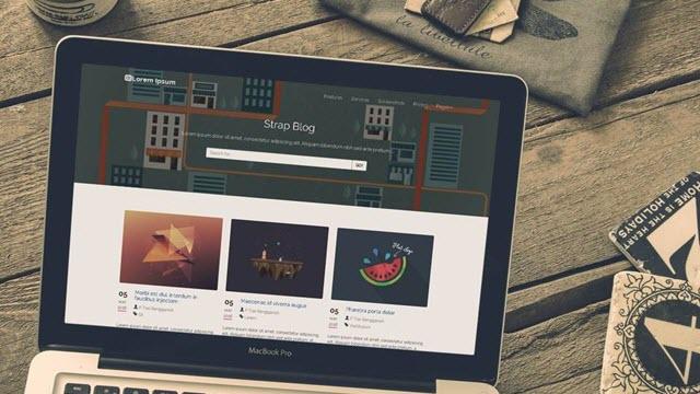 strap blogger template