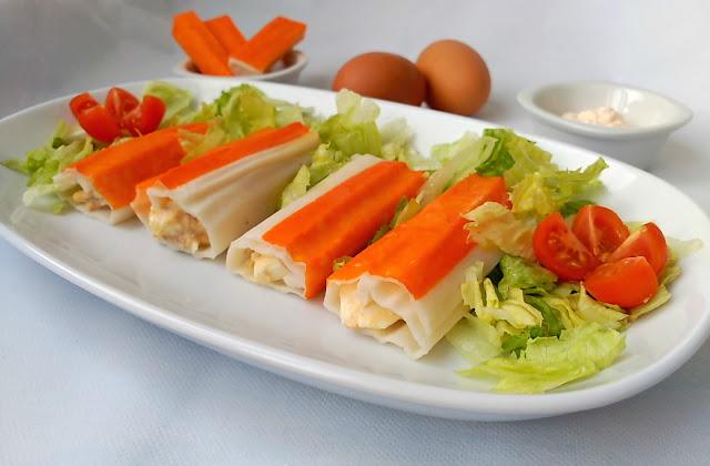 Canelones de cangrejo cocina a buenas horas - Canelones en microondas ...