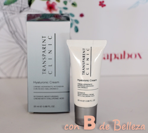 Crema con acido hialuronico Transparent clinic