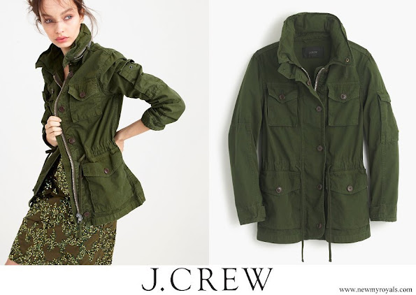 Meghan Markle wore J.Crew field hillside green mechanic jacket